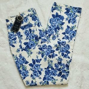Charter Club Tummy Slimming Roses Print Jeans 14